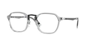 Persol 0PO 3243V 309 Transparent Grey Square Unisex Eyeglasses
