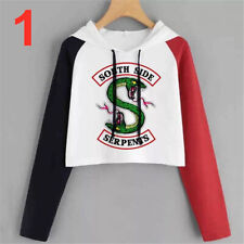 Riverdale Southside Serpents Funny Hoodies Top Bare Midriff Women Cosplay Gift
