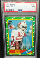 Jerry Rice 1986 Topps RC Rookie Card # 161 Graded PSA 7 NM 49ers Hall of Fame