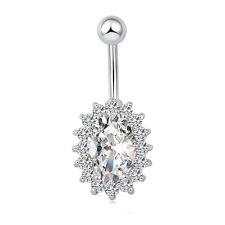 Rhinestone Belly Bar Dangle Crystal Body Piercing Belly Bars Navel Rings Jewelry