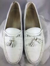"""Church's"" Men's White Leather Moc Toe Pinched Loafers Shoes Size 9.5 M England"