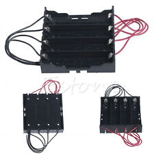 Plastic Battery Holder Storage Box Case For 4x 18650 Rechargeable Battery Black