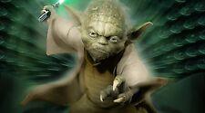 "Star Wars Flying Yoda - 42"" x 24"" LARGE WALL POSTER PRINT NEW"