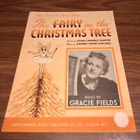 """Vintage 1936 """"THE FAIRY ON THE CHRISTMAS TREE"""". Sung by Gracie Fields"""