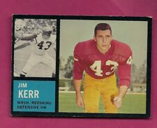 1962 TOPPS # 173 REDSKINS JIM KERR ROOKIE EX-MT CARD (INV# A5127)