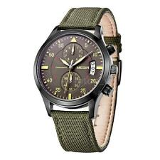 MEGIR Auto Date CHRONOGRAPH Hours Men Sport Wrist Watch Army Military Watch D1J3