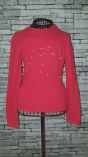 "Size UK 8 10 Vintage VTG 1990's Red Moschino ""Your a Star"" Print Diamante Top"