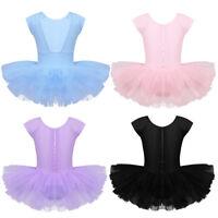 Mädchen Ballett Tütü Balletkleid Kindertanzkostüme Trikots Tanz Leotards Kleider