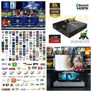 Arabic English Turkish Africa 5G WI-FI Android Sports TV BOX HD 4GB Ram 64GB Rom