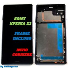 GLS DISPLAY LCD +TOUCH SCREEN +COVER FRAME per SONY XPERIA Z3 D6603 NERO VETRO