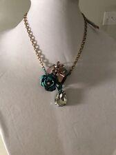 Betsey Johnson patina flower cluster pendant necklace, $55 w-33