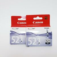 CANON CLI-521BK GENUINE CL-521 BLACK INK CARTRIDGE IP3600 MP630 MP980 MP540