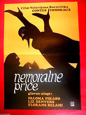 IMMORAL TALES 1974 WALERIAN BOROWCZYK PALOMA PICASSO FRENCH EXYU MOVIE POSTER
