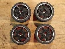 92311 Low Profile Tire & 92327BK 4WD Wheel Set - Kyosho GP-10 GP10 Skyline GT-R