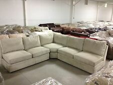 Pottery Barn PB Pearce Sofa Sectional couch EVERYDAY STONE SUEDE wedge CUSTOM