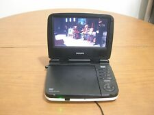 "Philips PET702 Portable DVD Player (7"") with Charger Power Adapter"