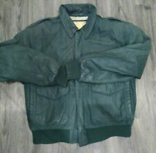 Vintage GLOBAL IDENTITY G-III Leather Fashions Men Bombers Jacket size M Green