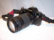 Canon EOS Rebel II 35mm Film SLR Camera  CANON ZOOM LENS EF 75-300mm 1:4-5.6