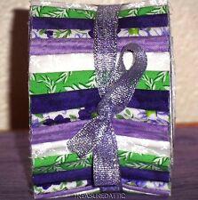"Honey Bun Strips Quilting Fabric 20~1.5""Purple Lavender Green White Floral Sew"