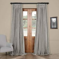 """Exclusive Fabrics & Furnishings 1 Curtain Extra Wide Vintage Textured 100"""" x 96"""""""