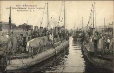 Saint Servan France WWI Ships Sortie de Torpilleurs Torpedo c1915 Postcard