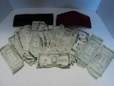 Lot of Vintage Play Money Hunky Dory Smackers with Two Vintage Wallets