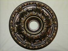 BRAND NEW! BRONZE ANTIQUE COPPER GOLD CHANDELIER CEILING MEDALLION WALL DECOR 19