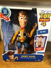 Toy Story 4 Sheriff Cowboy Woody Doll Pull String Talking Action Figure DISNEY