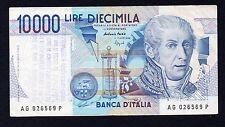 10 mila lire  A. Volta 1995 BB  (TIMBRO PANNELLA)