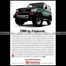 ★ TOYOTA LAND CRUISER KZJ 1995 ★ Pub AUTO 4X4 Publicité Off-Road Advert #A86