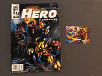 Rare Hero Illustrated #25 July 1995 Wolverine Vs Sabretooth Magazine with Card