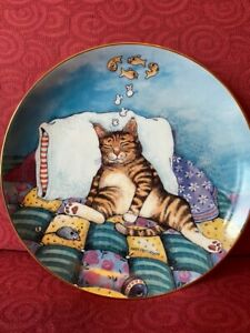Danbury Mint Cat Nap Plate by Gary Patterson 1992 A9339 Comical Cats