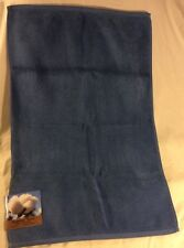 "EGYPTIAN TREND blue terry tub mat NWT 20"" x 30"" All cotton"