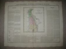 LRG FOLIO ANTIQUE 1825 DELAWARE CAREY & LEA BUCHON HANDCOLOR MAP WEDGE IS IN PA
