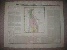 LRG FOLIO ANTIQUE 1825 DELAWARE CAREY & LEA BUCHON HANDCOLOR MAP WEDGE IS IN PA