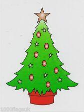 Christmas Cling On Vinyl Car Window Sticker - Christmas Tree cc12