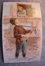 graphic victorian trade card advertising Estey Organ Co.