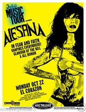 ALESANA/IN FEAR & FAITH 2012 SEATTLE or PORTLAND CONCERT TOUR POSTER: YOU CHOOSE