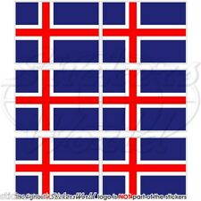 """ICELAND Flag Icelandic 40mm (1.6"""") Mobile Cell Phone Mini Stickers, Decals x6"""