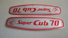 Honda C70 Super Cub gas tank paper stickers logos emblems H2059
