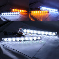 2x 9LEDs Daytime Running Driving DRL Turn Signal LED Lights White/Amber Yellow