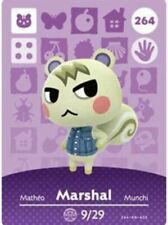 MARSHAL #264 Animal Crossing Amiibo Authentic Nintendo Mint Card From Series 3