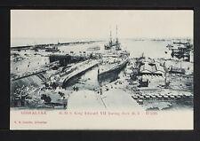 GIBRALTAR 137-H.M.S. King Edward VII leaving dock 11/3/05