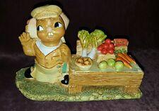 """Pendelfin Bunny Rabbit Figurine Figure - """"Winner"""" Vegetables Fruit Stand - New"""
