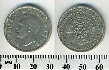 Great Britain 1947 - 1 Florin (2 Shillings) Copper-Nickel Coin - King George VI