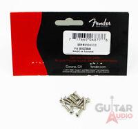 (Pack of 12) Genuine Fender Oval Head NICKEL Pickguard Screws for Guitar/Bass