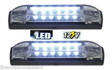 "2X WHITE 4"" Car Boat RV 6 LED LIGHT STRIP Waterproof 12V Marine Accent Lighting"