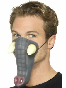 Elephant Nose Trunk with Tusks Gray Grey Premium Snout Costume Child Adult NEW