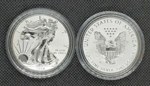 2019-W 1oz American Silver Eagle Enhanced Reverse Proof | Pride Of Two Nations