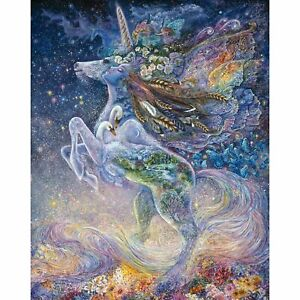 Unicorn Panel from Celestial Journey by Josephine Wall for 3 Wishes Fabric